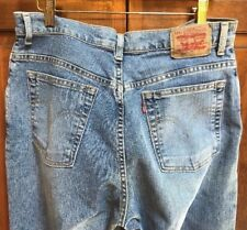 Levis 550 Women 14L 14 L Jeans Relaxed Tapered Mom High Waist StoneWashed Denim