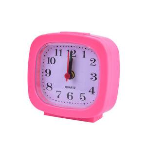 2020 New Alarm Clock Bedroom Square Small Bed Compact Travel Quartz Beep clock)