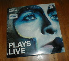 "PETER GABRIEL Orig 1983 ""Plays Live"" 2-LP w Biko SONG STICKER SEALED NM+"