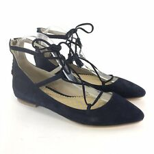 Boden Size 38 UK5 Blue Leather Suede Strappy Lace Zip Flat Heels Sandals Shoes
