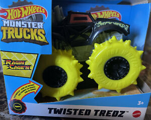 ✅Hot Wheels Monster Trucks Twisted Tredz RAGING CAGE'N Vehicle Free Fast Shipp