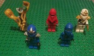 Ninjago Lot of 5 Lego Minifigs Mini Figures Ninjas GUC Accessories