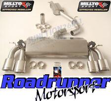 "Milltek Golf R MK7 Exhaust Cat Back ROAD+ System Valved 3"" Polish Oval Tailpipes"