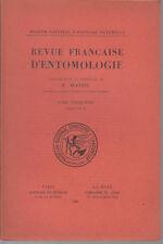 JEANNEL R. / Revue française d'entomologie - Tome V - Fascicule 2 - 1938