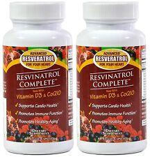 Resvinatrol Complete Capsules 2 PACK--Resveratrol, Vitamin D3, CoQ10, And More