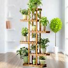 6-Tier Corner Plant Stand Wooden Ladder Flower Pot Display Rack Indoor Outdoor