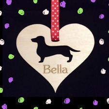 Personalised Dachshund Wiener Dog Keepsake Hanging Decoration Gift Plaque