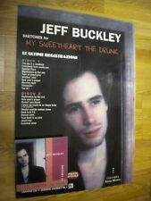 JEFF BUCKLEY CARTONATO PROMO DISPLAY ADVERT MY SWEETHEART THE DRUNK  cm.48x68