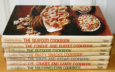 7 Southern Living Cookbook Library Books Vintage Party Snacks Outdoor Soups Etc.