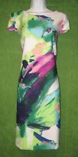 Donna Ricco Multi-color Floral Abstract Stretch Scuba Work Social Dress 14 $99
