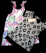 NWT Gymboree Dress Lot Sz 12 18 Mos Patchwork Leopard Cheetah Baby Girl 2pc NEW