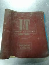 I &T Tractor Service Manual Repair Shop Book Binder John Deere Case Ih