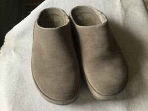 Fitflop Gogh Suede Womens  Grey  Clog Shoes  Size 5