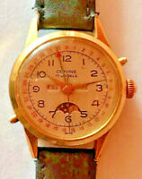Cervine - rare triple calendar moonface, rare Valjoux 89 watch high class srcrew
