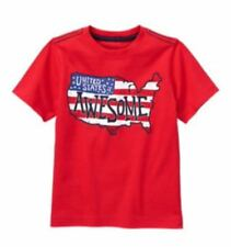 Gymboree 2T Tee Shirt United States of Awesome Red White Blue Flag USA Boys