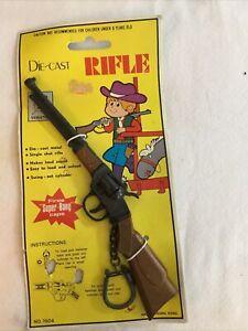 Rare Die-Cast Rifle Key Chain Fires Super Bang Caps