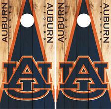 Auburn Tigers Cornhole Wrap NCAA Logo Game Skin Decal Vinyl Set CO963