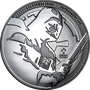 1 oz Silver Coin Niue 2020 Star Wars Darth Vader Light Saber BU .999 $2