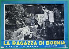 T34 FOTOBUSTA LA RAGAZZA DI BOEMIA STAN LAUREL OLIVER HARDY STANLIO OLLIO 5