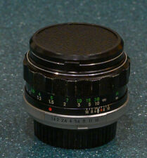 MINOLTA MC ROKKOR PF 58/1.4 LENS for 35mm slr or adapt --- EXC