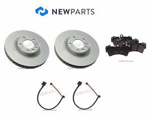 For Audi Q7 VW Touareg OEM Brake Rotors Hella Pads & Pex Sensors KIT Front