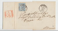 Italien - 1864, frankierter Beleg (15 c.) nach Modena (roter Kastenstempel) !!
