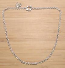 Sterling Silver Cable Link Heart Charm Necklace ~ 21.9 grams ~ 4-I249