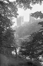 1910s DURHAM #1 Cathedral Antique Photographic Glass Negative (River Wear 1911)