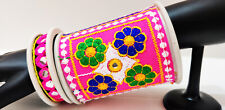 Ethnic Boho Bangle Cuff Band Embroidery Hot Belly Dance Costume Jewelry Tribal