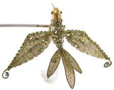 Katherine´s Collection Vogel Kolibri Federn Grün Strass Perlen Figur Clip 14cm