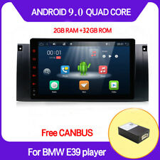 2DIN Android 9.0 Car Stereo Radio GPS Navi IPS For BMW 5 E39 E53 M5 Head Unit