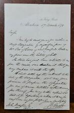 1878 William Yeats, 46 King Street, Aberdeen Letter