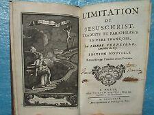 Pierre CORNEILLE : L'IMITATION DE JESUS-CHRIST, 1739. 5 gravures par Pocquet.