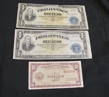 New listing Lot of 3 Philippines Notes - 2x 1944 Victory Note, 1949 10 Centavos
