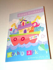 "HAPPY BIRTHDAY Mini A7 4x3"" Christian Faith GREETINGS CARD Ps 115:15 NOAH'S ARK"
