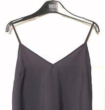 M&S Marks s8 Purple AdjustableStraps LongerLength Silky Camisole Vest Top BNWOT