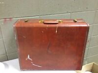 Vintage Samsonite Streamlite Steampunk Brown Luggage 24x18x8 (