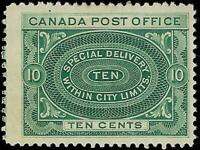VEGAS - 1898 Canada - Sc# E1 Special Delivery - MH, OG - Cat= $125 - (FC37)