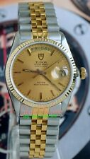 ROLEX TUDOR Oyster Prince Date+Day 94613 SS/14K Gold Men's 35mm Case