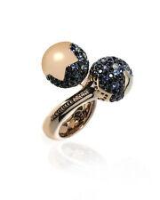 Pasquale Bruni 18K Rose Gold Diamond And Onyx Ring Sz 7.75 14038R