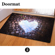 Cool Funny Heart Room Doormat Indoor Non-slip Carpet Floor Mat Fashion Bathmat