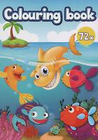 Colouring Book - Malbuch für Kinder - Hai, Muschel, Delfin und viele andere #150