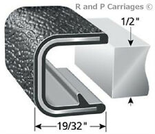 "1/2"" Black Edge Trim Lok Camper Trailer RV Seal Lock sold by the foot"