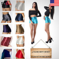 Hot Pants Shiny Disco Club High Waisted  Apparel Sexy Womens Ladies Mini Shorts