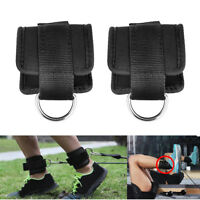 2pc Resistance Band D-ring Ankle Straps Leg Power Training Gym Fitness Equipment