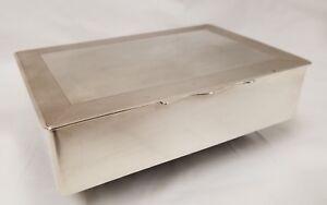 Fine Antique English Birmingham Sterling Silver Box by E&N S  20+ Troy ounces