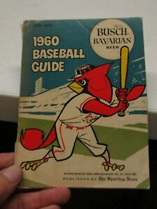 1960 BASEBALL GUIDE BY BUSCH BAVARIAN BEER