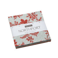 """CHARM PACK~NORTHPORT~MODA FABRIC~42-5"""" SQUARES~MINICK SIMPSON-14880PP~floral"""