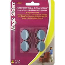 Furniture Glide Round Nail On Sliding Discs Pack of 4