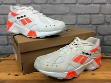 REEBOK CLASSICS MENS UK 8.5 EUR 42.5 AZTREK WHITE ORANGE TRAINERS T